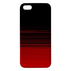 Abstract Of Red Horizontal Lines Iphone 5s/ Se Premium Hardshell Case by Jojostore