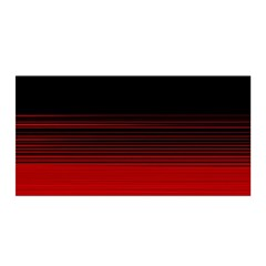 Abstract Of Red Horizontal Lines Satin Wrap by Jojostore