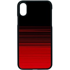 Abstract Of Red Horizontal Lines Apple Iphone X Seamless Case (black) by Jojostore