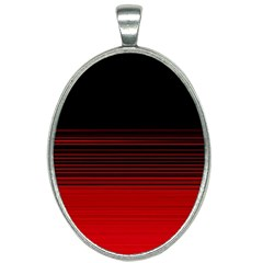 Abstract Of Red Horizontal Lines Oval Necklace by Jojostore