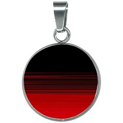 Abstract Of Red Horizontal Lines 20mm Round Necklace