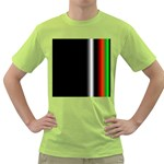 Colorful Neon Background Images Green T-Shirt Front