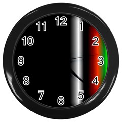 Colorful Neon Background Images Wall Clock (black) by Jojostore