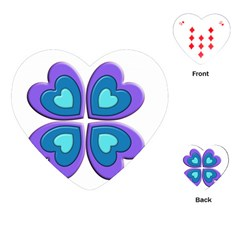 Light Blue Heart Images Playing Cards (heart) by Jojostore