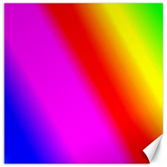 Multi Color Rainbow Background Canvas 12  X 12  by Jojostore