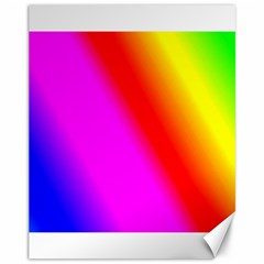 Multi Color Rainbow Background Canvas 11  X 14  by Jojostore