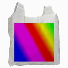 Multi Color Rainbow Background Recycle Bag (two Side)
