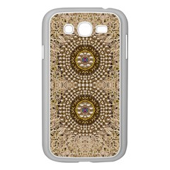 Moon Shine Over The Wood In The Night Of Glimmering Pearl Stars Samsung Galaxy Grand Duos I9082 Case (white)