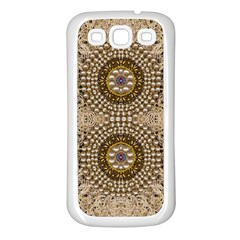 Moon Shine Over The Wood In The Night Of Glimmering Pearl Stars Samsung Galaxy S3 Back Case (white)