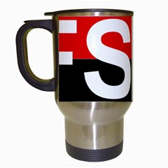 Flag Of Sandinista National Liberation Front Travel Mugs (white) by abbeyz71