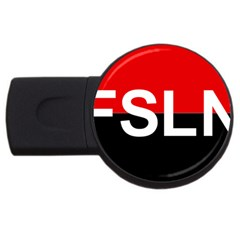 Flag Of Sandinista National Liberation Front Usb Flash Drive Round (4 Gb)
