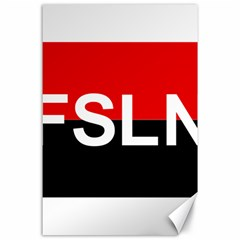 Flag Of Sandinista National Liberation Front Canvas 24  X 36  by abbeyz71