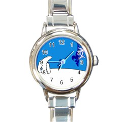 Flag Of The Franco T¨|nois Round Italian Charm Watch by abbeyz71