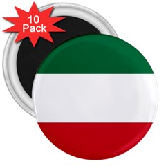Patriote Flag 3  Magnets (10 Pack)  by abbeyz71