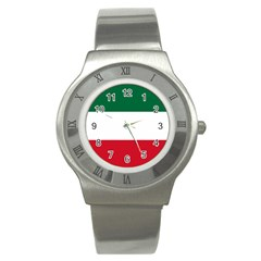 Patriote Flag Stainless Steel Watch by abbeyz71
