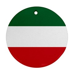 Patriote Flag Round Ornament (two Sides)