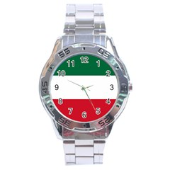 Patriote Flag Stainless Steel Analogue Watch by abbeyz71