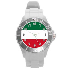 Patriote Flag Round Plastic Sport Watch (l) by abbeyz71