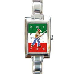 Patriote Flag With Le Vieux De  37 Rectangle Italian Charm Watch by abbeyz71