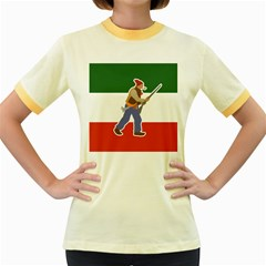 Patriote Flag With Le Vieux De  37 Women s Fitted Ringer T Shirt by abbeyz71