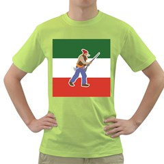 Patriote Flag With Le Vieux De  37 Green T Shirt by abbeyz71
