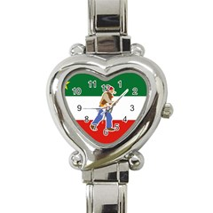 Patriote Flag With Le Vieux De  37 Heart Italian Charm Watch by abbeyz71