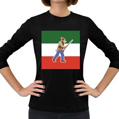 Patriote Flag With Le Vieux De  37 Women s Long Sleeve Dark T Shirt by abbeyz71
