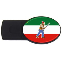 Patriote Flag With Le Vieux De  37 Usb Flash Drive Oval (4 Gb) by abbeyz71
