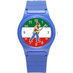 Patriote Flag With Le Vieux De  37 Round Plastic Sport Watch (s) by abbeyz71