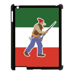 Patriote Flag With Le Vieux De  37 Apple Ipad 3/4 Case (black) by abbeyz71