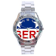 Flag Of The Republic Of Canada Stainless Steel Analogue Watch by abbeyz71