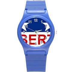 Flag Of The Republic Of Canada Round Plastic Sport Watch (s) by abbeyz71