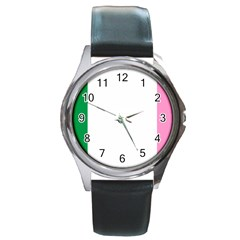 Newfoundland Tricolour Round Metal Watch by abbeyz71