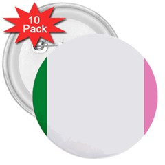 Newfoundland Tricolour 3  Buttons (10 Pack)  by abbeyz71