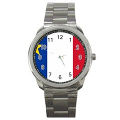 Flag Of Acadia Sport Metal Watch