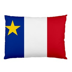 Flag Of Acadia Pillow Case by abbeyz71