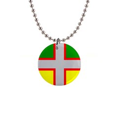 Flag Of Saguenay Lac Saint Jean 1  Button Necklace by abbeyz71