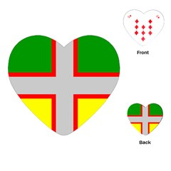 Flag Of Saguenay Lac Saint Jean Playing Cards (heart) by abbeyz71