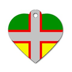 Flag Of Saguenay Lac Saint Jean Dog Tag Heart (two Sides) by abbeyz71