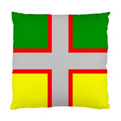 Flag Of Saguenay Lac Saint Jean Standard Cushion Case (two Sides) by abbeyz71