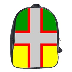 Flag Of Saguenay Lac Saint Jean School Bag (large) by abbeyz71