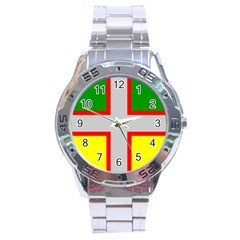Flag Of Saguenay Lac Saint Jean Stainless Steel Analogue Watch by abbeyz71