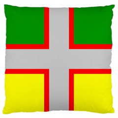 Flag Of Saguenay Lac Saint Jean Large Cushion Case (two Sides) by abbeyz71
