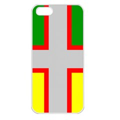 Flag Of Saguenay Lac Saint Jean Apple Iphone 5 Seamless Case (white) by abbeyz71
