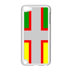 Flag Of Saguenay Lac Saint Jean Apple Ipod Touch 5 Case (white) by abbeyz71
