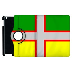 Flag Of Saguenay Lac Saint Jean Apple Ipad 3/4 Flip 360 Case by abbeyz71