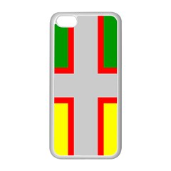 Flag Of Saguenay Lac Saint Jean Apple Iphone 5c Seamless Case (white) by abbeyz71