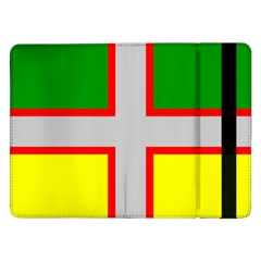 Flag Of Saguenay Lac Saint Jean Samsung Galaxy Tab Pro 12 2  Flip Case by abbeyz71