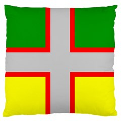 Flag Of Saguenay Lac Saint Jean Large Flano Cushion Case (two Sides) by abbeyz71