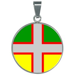 Flag Of Saguenay Lac Saint Jean 30mm Round Necklace by abbeyz71